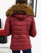 Dámska prešívaná bunda Estella zimná bordová