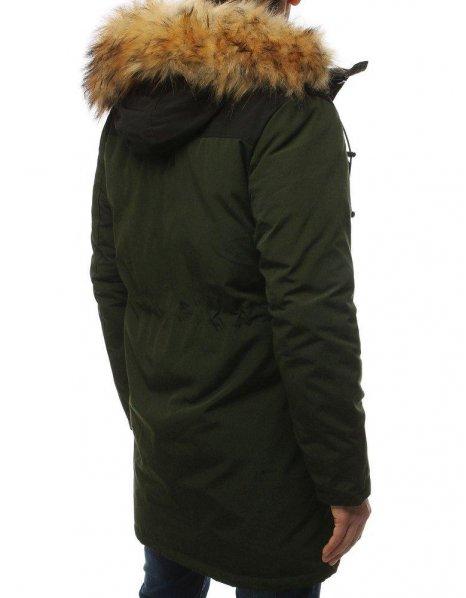 Zelená zimná pánska bunda