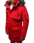 Červená zimná pánska bunda