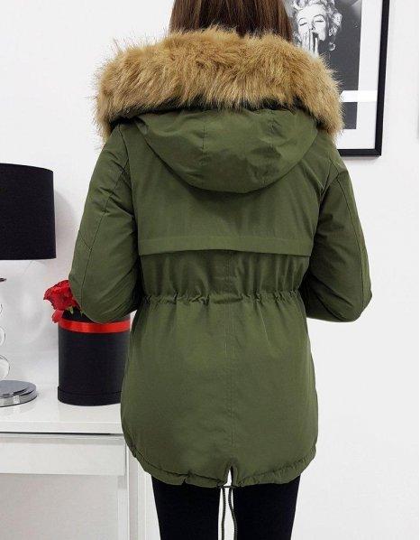 Obojstranná dámska párka bunda Ofelia olivová
