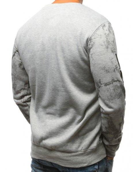 Pánska mikina s potlačou šedá
