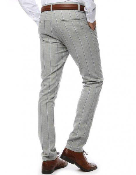 Pánske nohavice svetlošedé s pásikmi