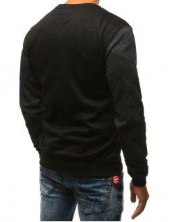 Grafitové sako s čiernymi záplatami