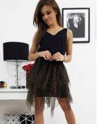 Čierna tylová sukňa Estera