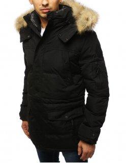 Jednoradový čierne pánsky kabát