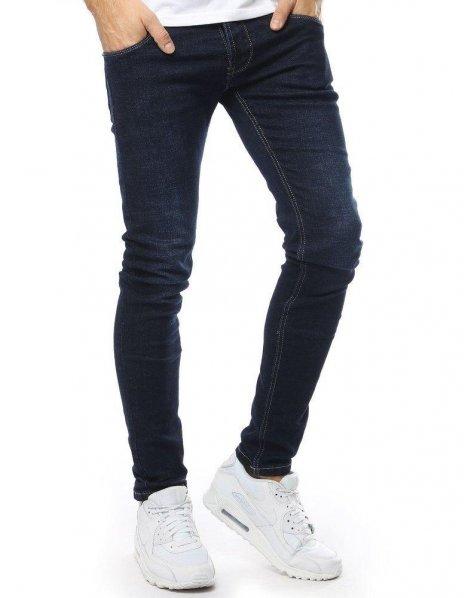 Tmavomodré pánske džínsové nohavice