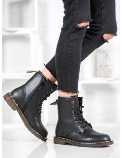 Čierne ploché dámske topánky