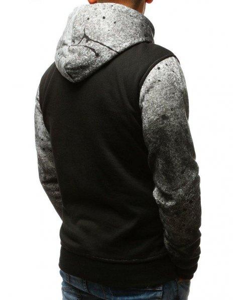 Pánska mikina s kapucňou šedá
