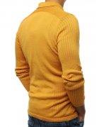 Horčicový pánsky sveter