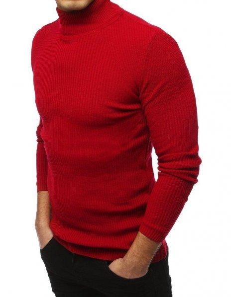 Červený pánsky rolákový sveter