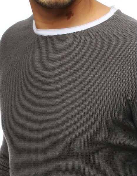 Pánsky tmavošedý sveter