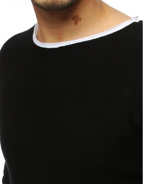 Pánsky čierny sveter