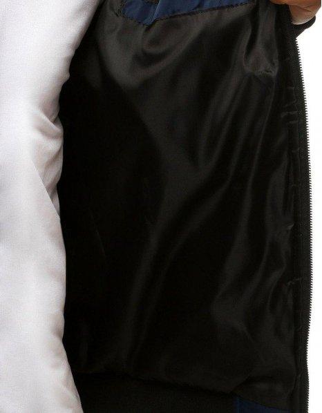 Tmavomodrá pánska prešívaná bomber bunda