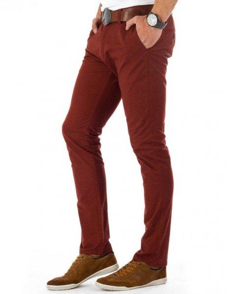 Pánske bordové Chino nohavice