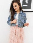 Modrá dámska džínsová bunda Beverlly