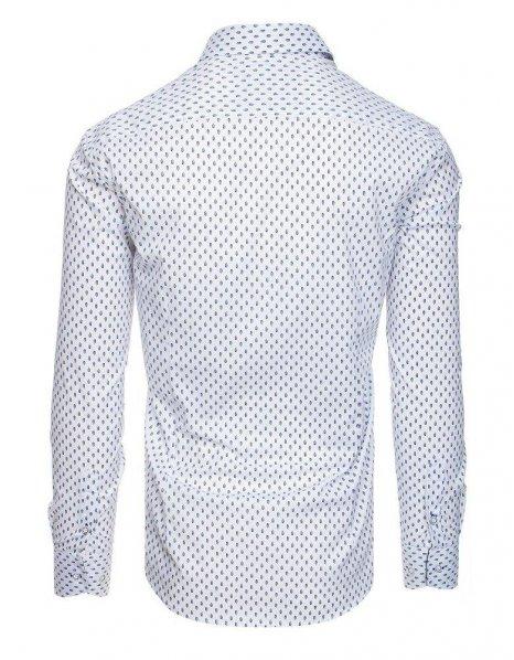 Pánska biela košeľa s dlhým rukávom