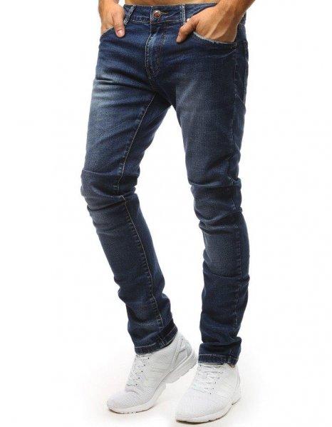 Nohavice džínsové pánske modré