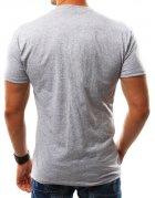 Śedé pánske tričko s potlačou