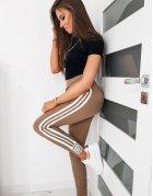 Hnedé dámske teplákové nohavice Bella
