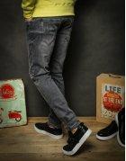 Šedé pánske džínsové nohavice