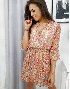 Broskyňové šaty Bueno