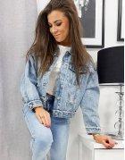 Dámska džínsová bunda Seven modrá