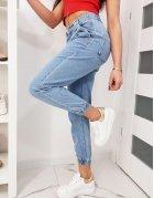 Modré dámske džínsy jogger FAncy