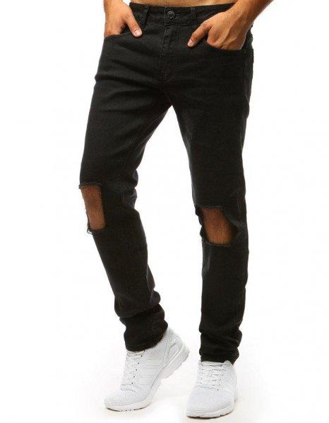 Nohavice džínsové pánske čierne