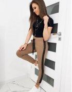 Dámske teplákové nohavice Lorena hnedé