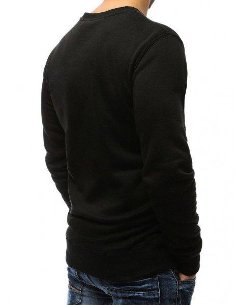 Čierna pánska hladká mikina