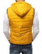 Žltá pánska vesta s kapucňou