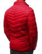 Červená prešívaná pánska bunda
