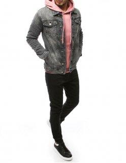 Tmavomodrá pánske kockované sako