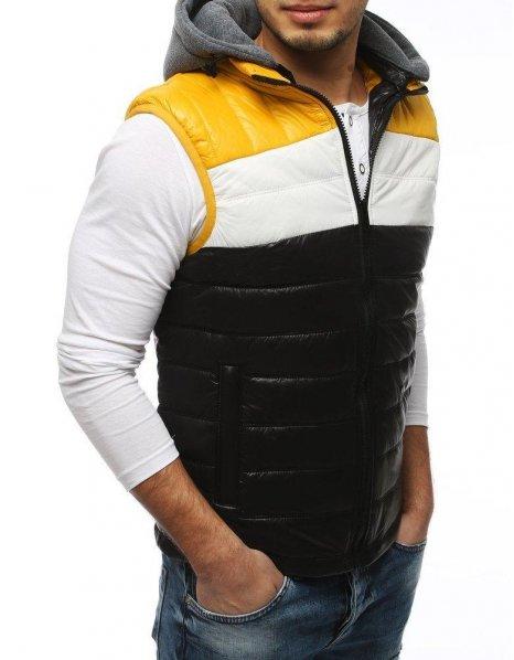 Čierna pánska prešívaná vesta