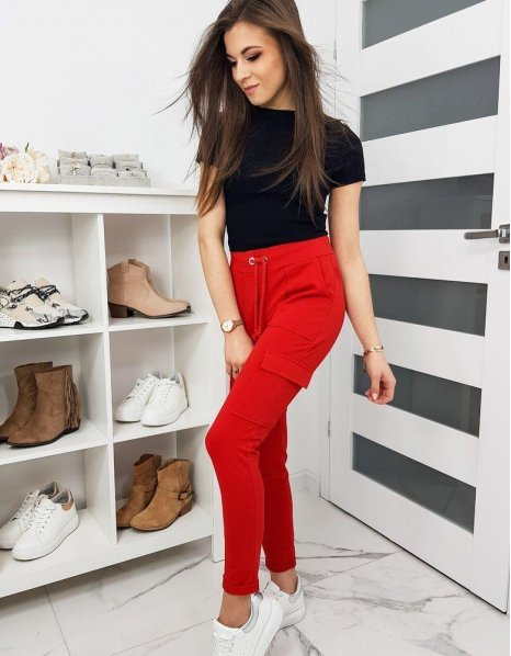 Dámske nohavice Ivet červené