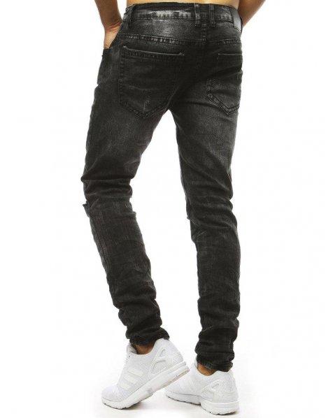 Pánske džínsové čierne nohavice